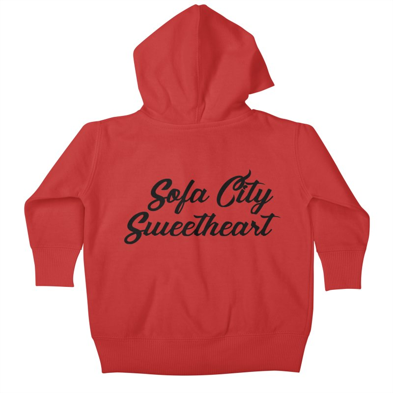 """Sofa City """"Summer Camp"""" (Black Font) Kids Baby Zip-Up Hoody by Sofa City Sweetheart Discount Superstore"""