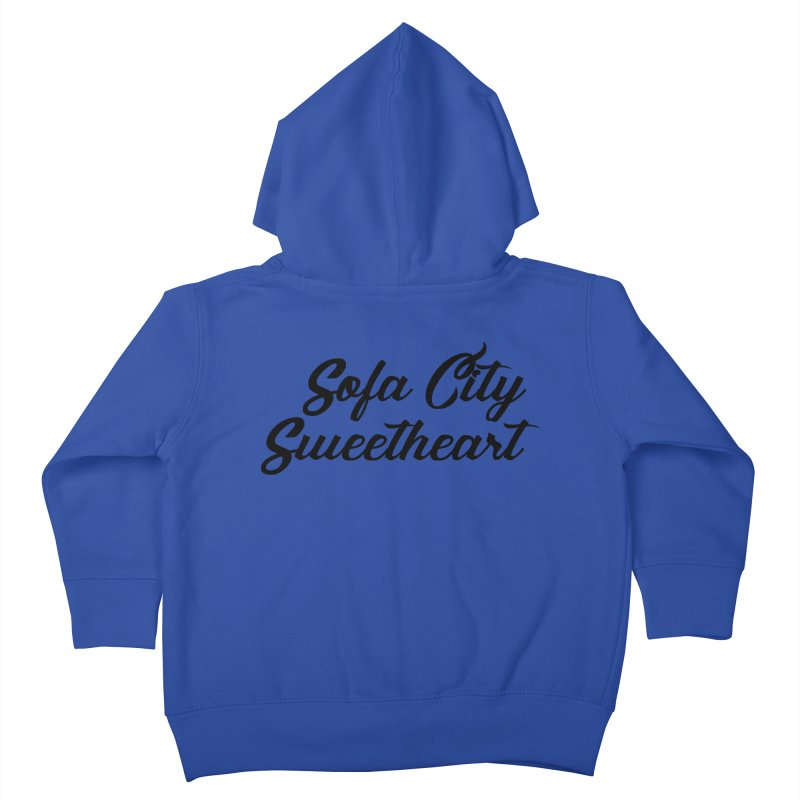 """Sofa City """"Summer Camp"""" (Black Font) Kids Toddler Zip-Up Hoody by Sofa City Sweetheart Discount Superstore"""