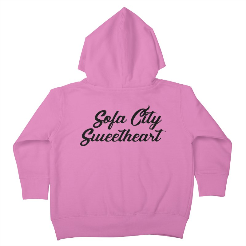 "Sofa City ""Summer Camp"" (Black Font) Kids Toddler Zip-Up Hoody by Sofa City Sweetheart Discount Superstore"