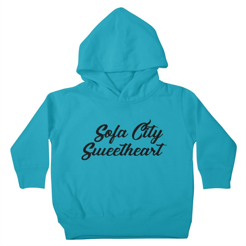 "Sofa City ""Summer Camp"" (Black Font) Kids Toddler Pullover Hoody by Sofa City Sweetheart Discount Superstore"