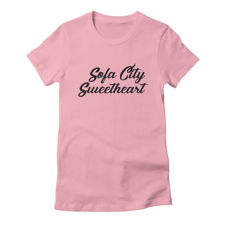"""Sofa City """"Summer Camp"""" (Black Font) Women's Fitted T-Shirt by Sofa City Sweetheart Discount Superstore"""