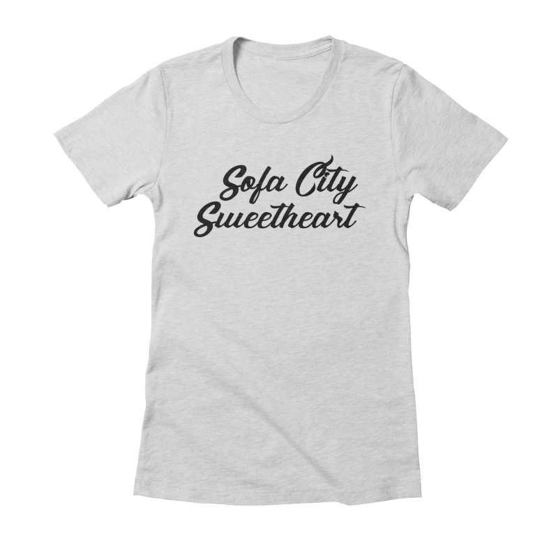 "Sofa City ""Summer Camp"" (Black Font) Women's Fitted T-Shirt by Sofa City Sweetheart Discount Superstore"