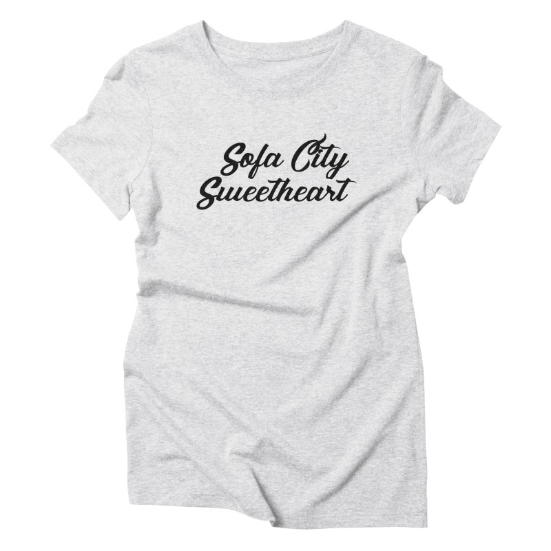 """Sofa City """"Summer Camp"""" (Black Font) Women's Triblend T-Shirt by Sofa City Sweetheart Discount Superstore"""