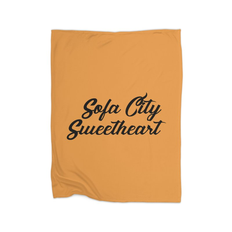 "Sofa City ""Summer Camp"" (Black Font) Home Fleece Blanket Blanket by Sofa City Sweetheart Discount Superstore"