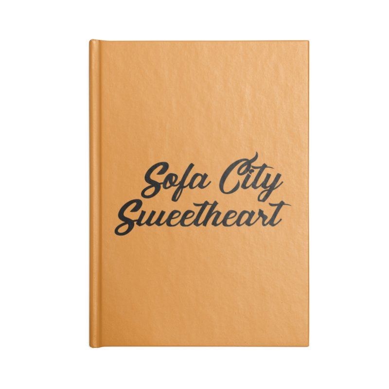 "Sofa City ""Summer Camp"" (Black Font) Accessories Lined Journal Notebook by Sofa City Sweetheart Discount Superstore"