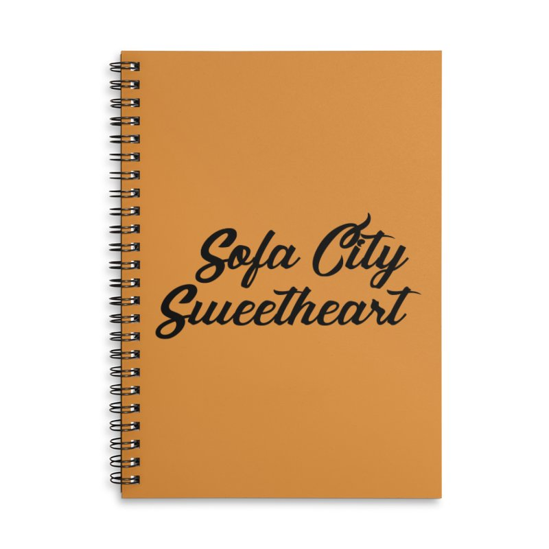 "Sofa City ""Summer Camp"" (Black Font) Accessories Lined Spiral Notebook by Sofa City Sweetheart Discount Superstore"