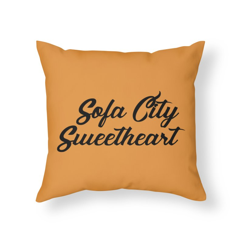 "Sofa City ""Summer Camp"" (Black Font) Home Throw Pillow by Sofa City Sweetheart Discount Superstore"