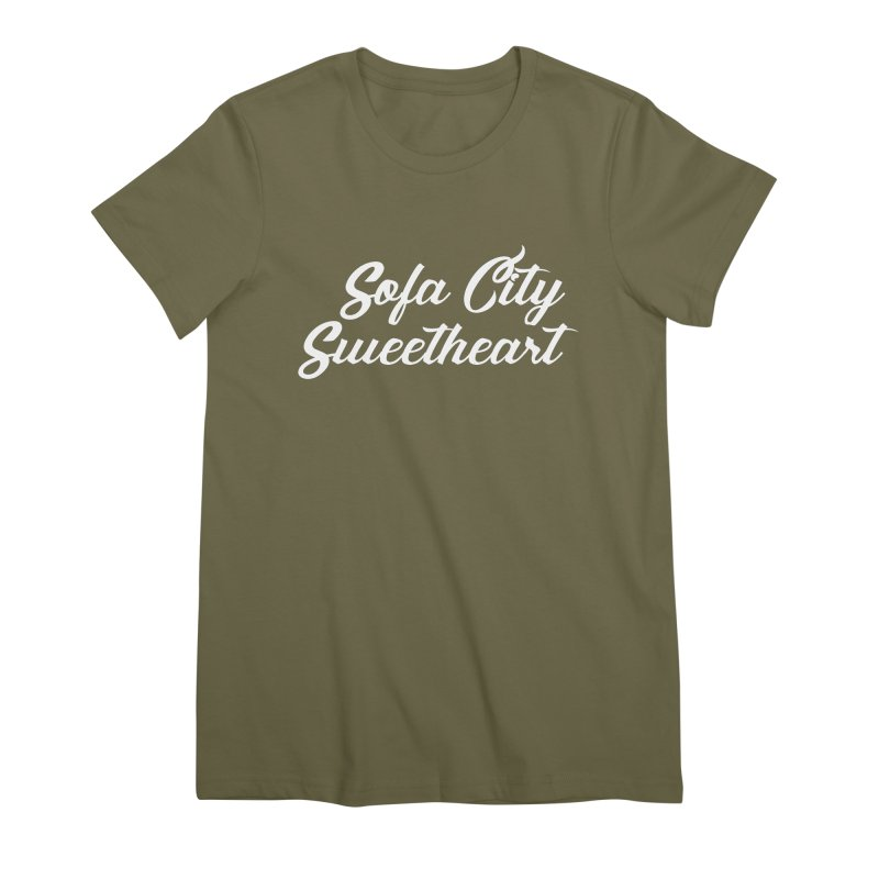 "Sofa City ""Summer Camp"" (White Font) Women's Premium T-Shirt by Sofa City Sweetheart Discount Superstore"