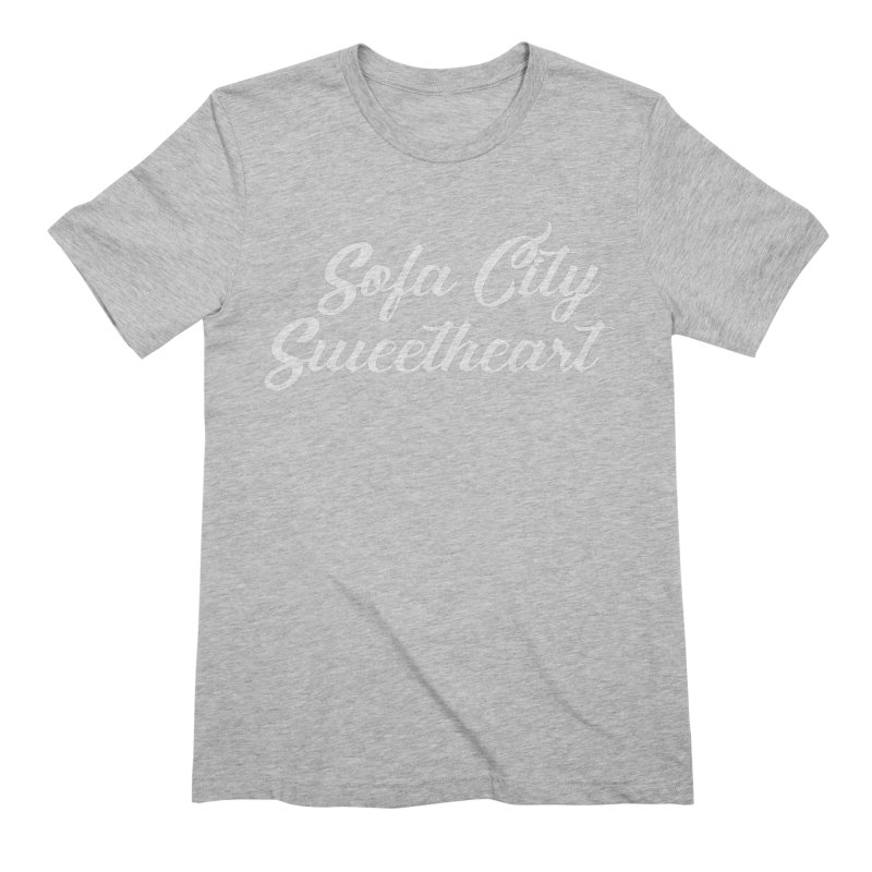 """Sofa City """"Summer Camp"""" (White Font) Men's Extra Soft T-Shirt by Sofa City Sweetheart Discount Superstore"""