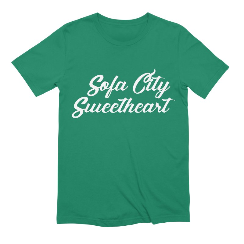 "Sofa City ""Summer Camp"" (White Font) Men's Extra Soft T-Shirt by Sofa City Sweetheart Discount Superstore"