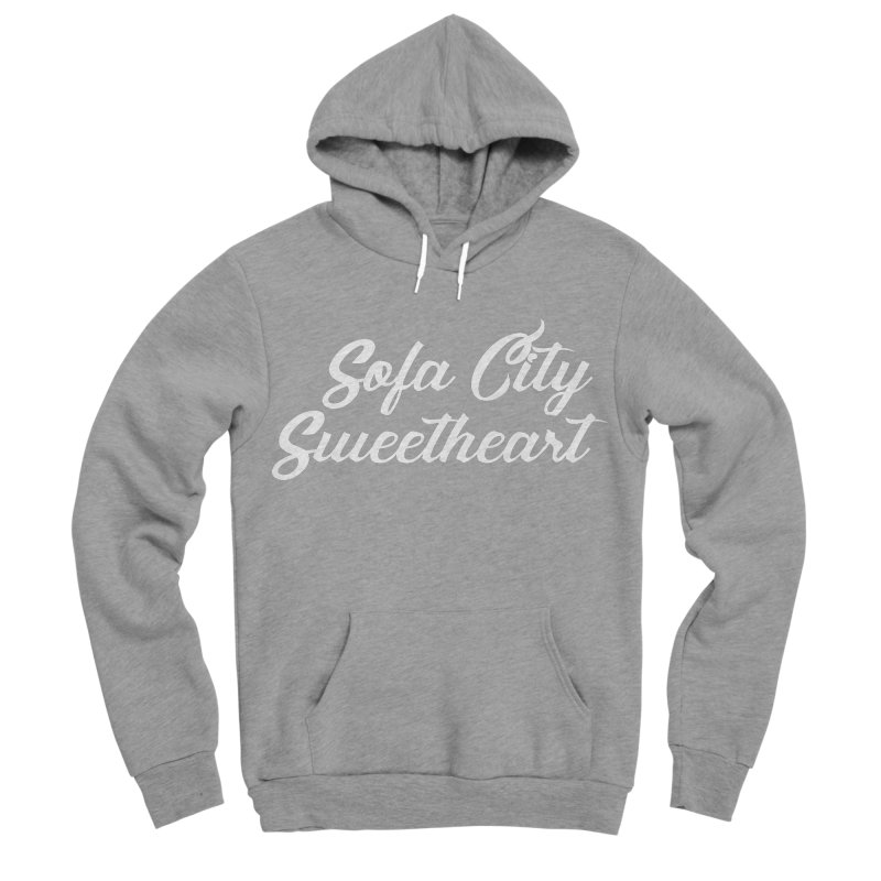 "Sofa City ""Summer Camp"" (White Font) Women's Sponge Fleece Pullover Hoody by Sofa City Sweetheart Discount Superstore"