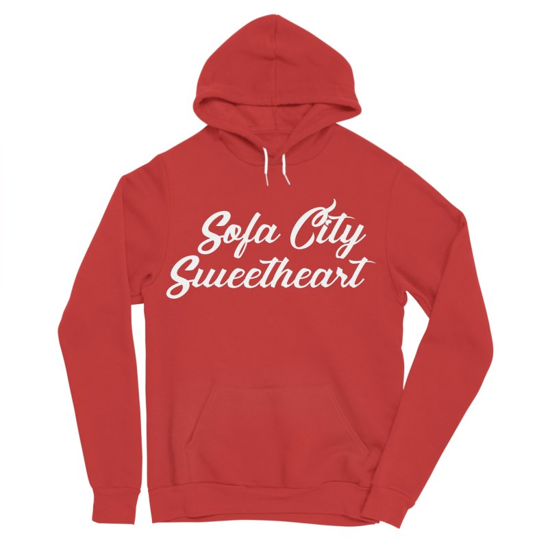 """Sofa City """"Summer Camp"""" (White Font) Women's Sponge Fleece Pullover Hoody by Sofa City Sweetheart Discount Superstore"""