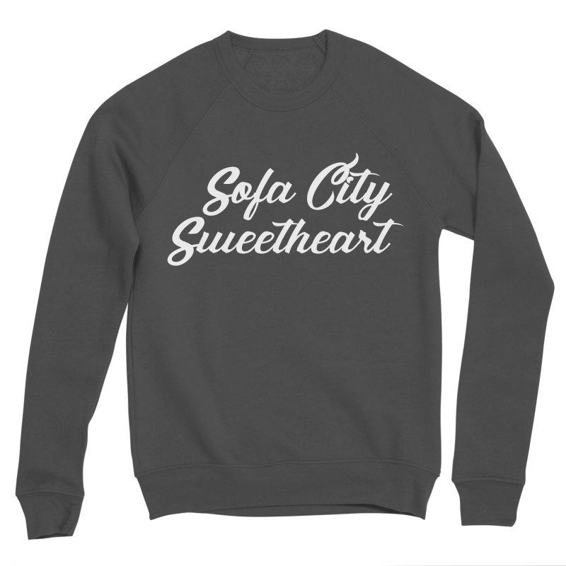 "Sofa City ""Summer Camp"" (White Font) Women's Sponge Fleece Sweatshirt by Sofa City Sweetheart Discount Superstore"
