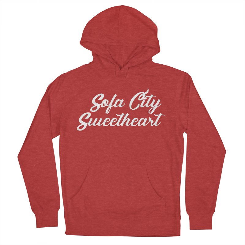 """Sofa City """"Summer Camp"""" (White Font) Women's French Terry Pullover Hoody by Sofa City Sweetheart Discount Superstore"""