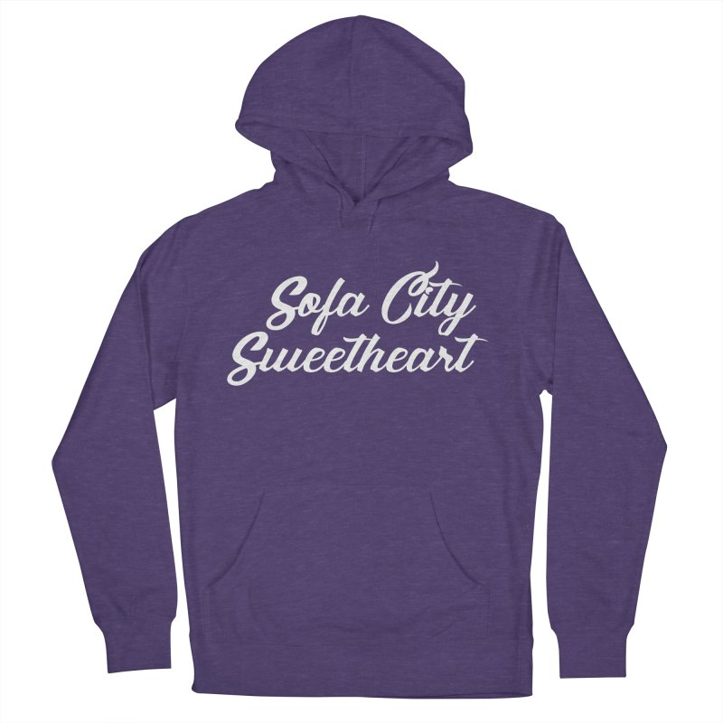 """Sofa City """"Summer Camp"""" (White Font) Men's French Terry Pullover Hoody by Sofa City Sweetheart Discount Superstore"""