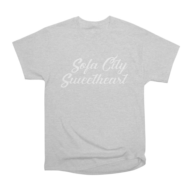 "Sofa City ""Summer Camp"" (White Font) Women's Heavyweight Unisex T-Shirt by Sofa City Sweetheart Discount Superstore"