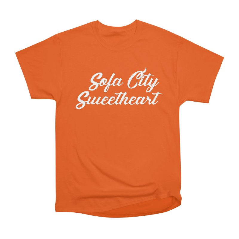 "Sofa City ""Summer Camp"" (White Font) Men's Heavyweight T-Shirt by Sofa City Sweetheart Discount Superstore"