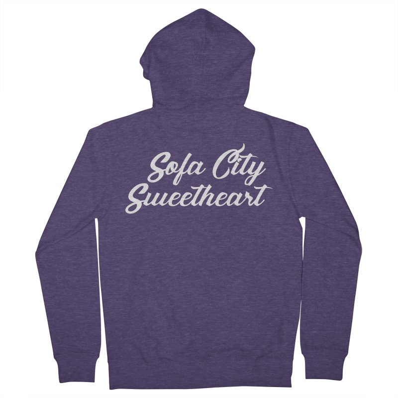 "Sofa City ""Summer Camp"" (White Font) Men's French Terry Zip-Up Hoody by Sofa City Sweetheart Discount Superstore"