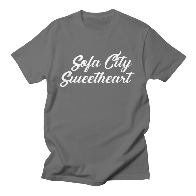 """Sofa City """"Summer Camp"""" (White Font) Men's T-Shirt by Sofa City Sweetheart Discount Superstore"""