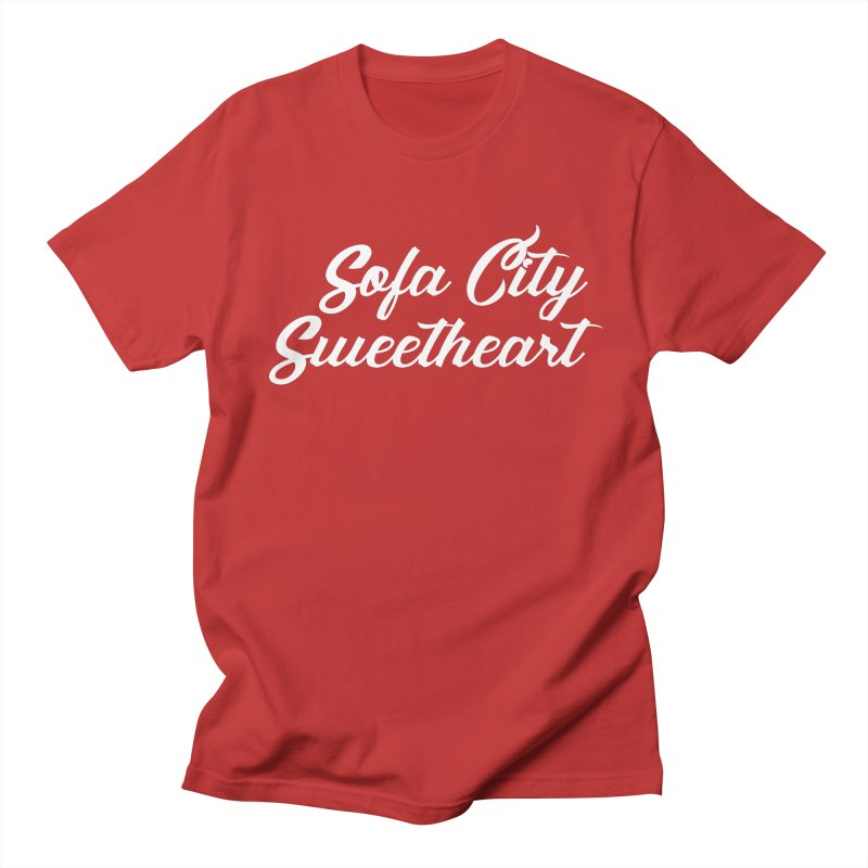 "Sofa City ""Summer Camp"" (White Font) Women's Regular Unisex T-Shirt by Sofa City Sweetheart Discount Superstore"