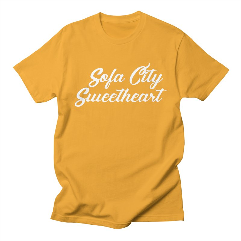 """Sofa City """"Summer Camp"""" (White Font) Men's Regular T-Shirt by Sofa City Sweetheart Discount Superstore"""