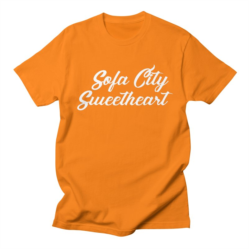 "Sofa City ""Summer Camp"" (White Font) Men's Regular T-Shirt by Sofa City Sweetheart Discount Superstore"
