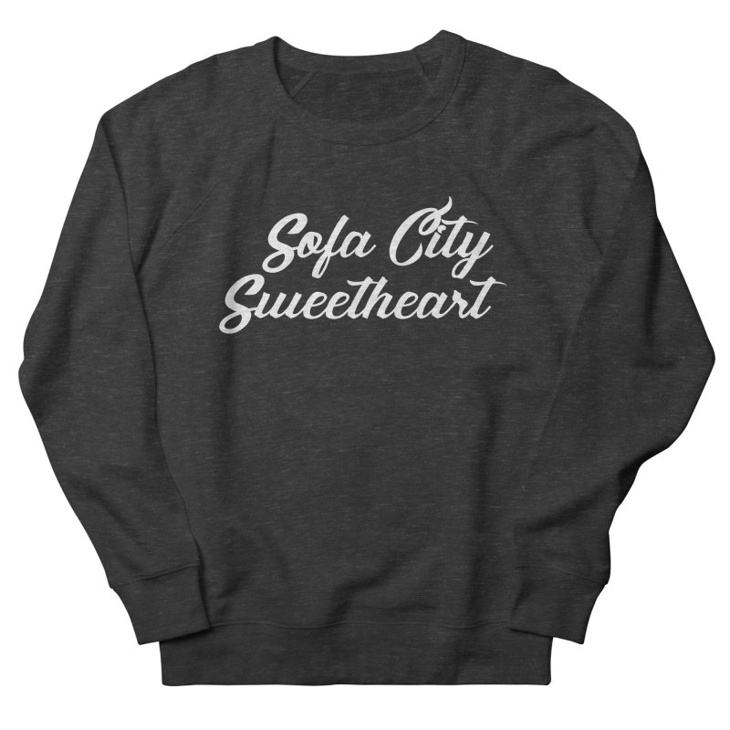 "Sofa City ""Summer Camp"" (White Font) Women's French Terry Sweatshirt by Sofa City Sweetheart Discount Superstore"