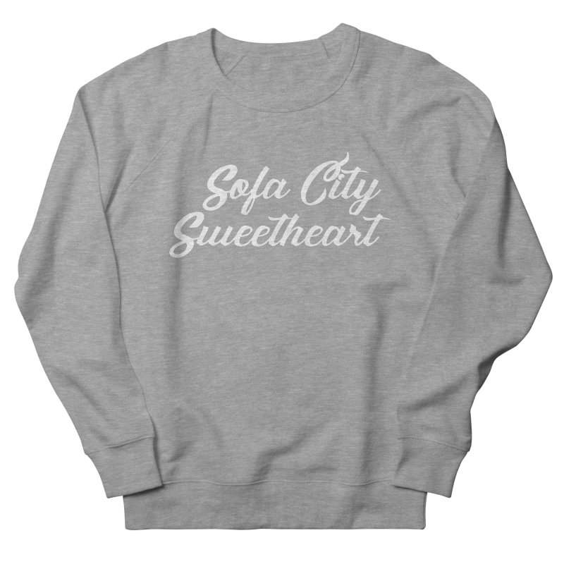 """Sofa City """"Summer Camp"""" (White Font) Women's French Terry Sweatshirt by Sofa City Sweetheart Discount Superstore"""