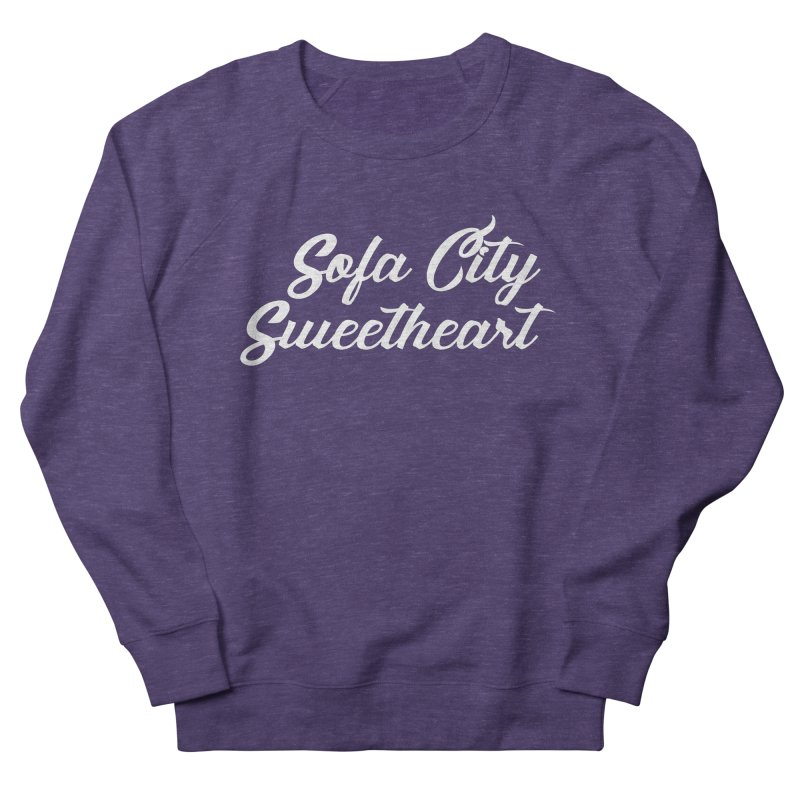 "Sofa City ""Summer Camp"" (White Font) Men's French Terry Sweatshirt by Sofa City Sweetheart Discount Superstore"