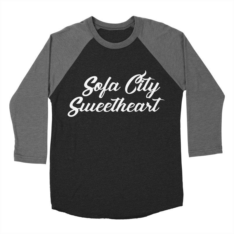 "Sofa City ""Summer Camp"" (White Font) Women's Baseball Triblend Longsleeve T-Shirt by Sofa City Sweetheart Discount Superstore"