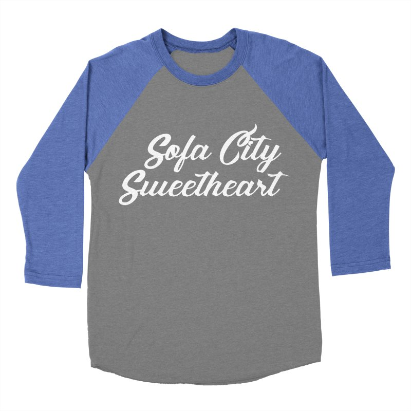 "Sofa City ""Summer Camp"" (White Font) Men's Baseball Triblend Longsleeve T-Shirt by Sofa City Sweetheart Discount Superstore"
