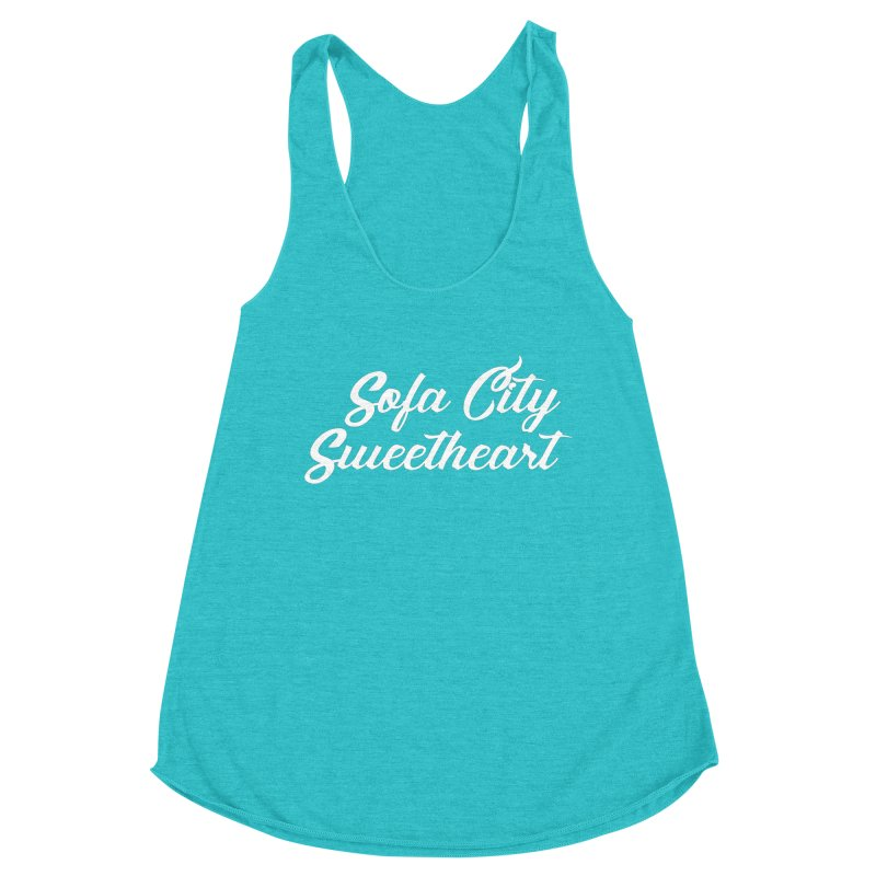 """Sofa City """"Summer Camp"""" (White Font) Women's Tank by Sofa City Sweetheart Discount Superstore"""