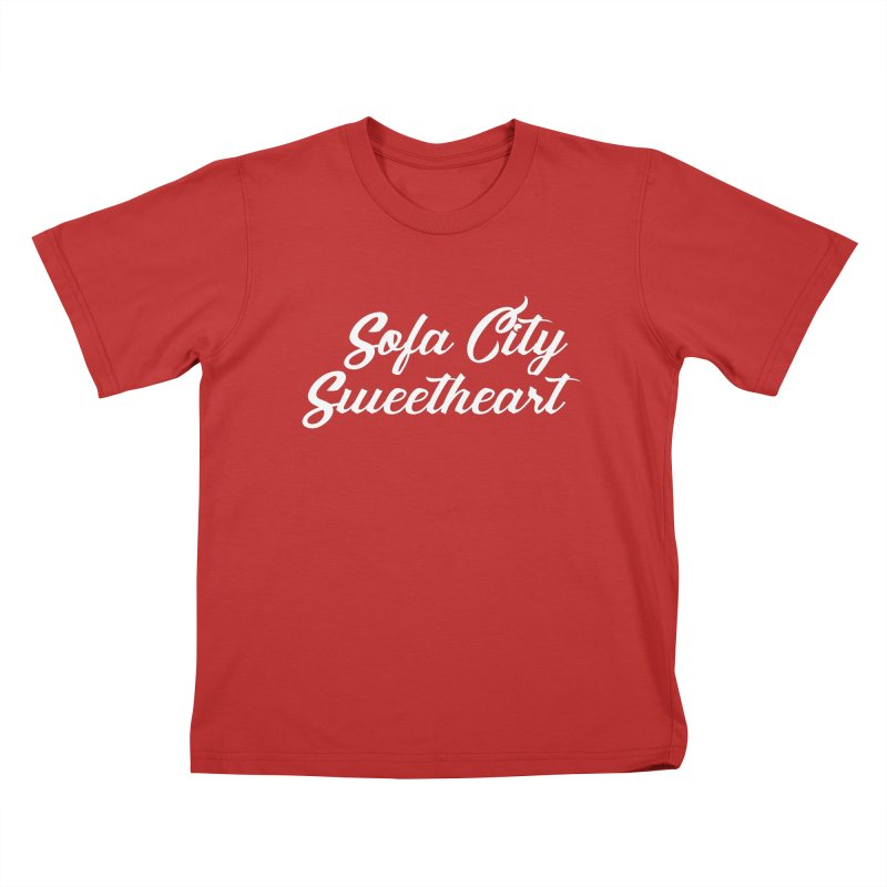 """Sofa City """"Summer Camp"""" (White Font) Kids T-Shirt by Sofa City Sweetheart Discount Superstore"""