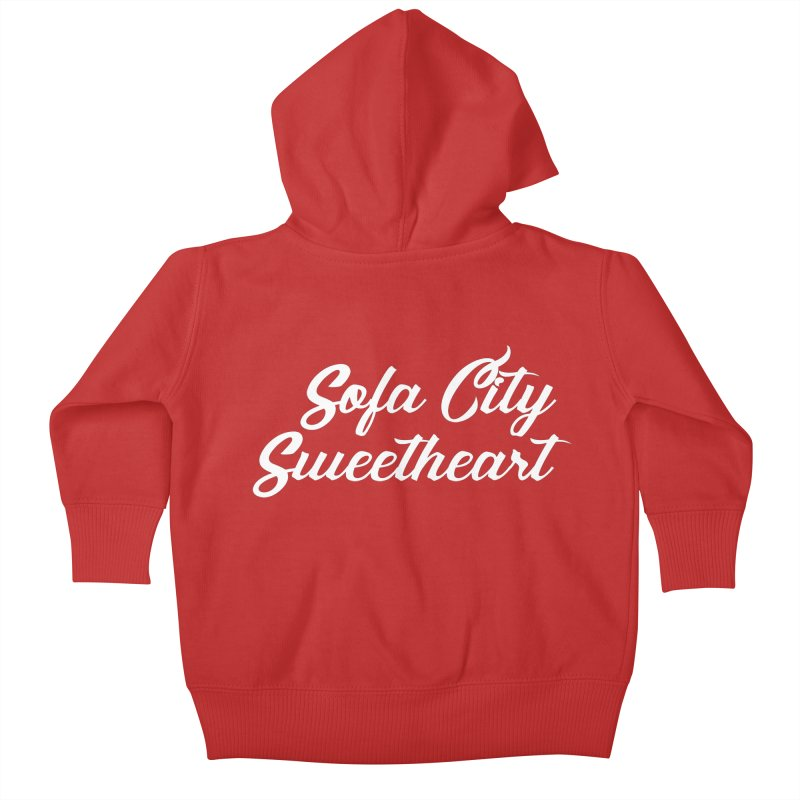 "Sofa City ""Summer Camp"" (White Font) Kids Baby Zip-Up Hoody by Sofa City Sweetheart Discount Superstore"