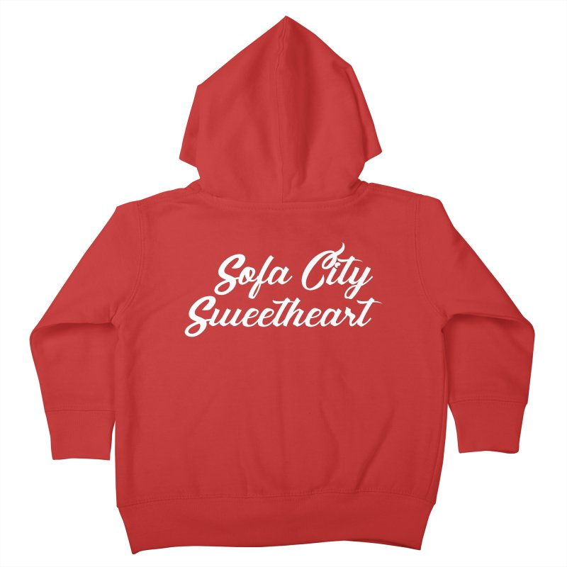"Sofa City ""Summer Camp"" (White Font) Kids Toddler Zip-Up Hoody by Sofa City Sweetheart Discount Superstore"