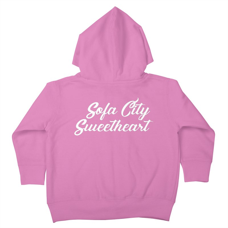 """Sofa City """"Summer Camp"""" (White Font) Kids Toddler Zip-Up Hoody by Sofa City Sweetheart Discount Superstore"""