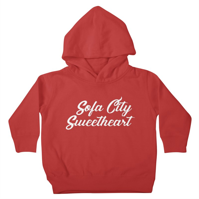 "Sofa City ""Summer Camp"" (White Font) Kids Toddler Pullover Hoody by Sofa City Sweetheart Discount Superstore"