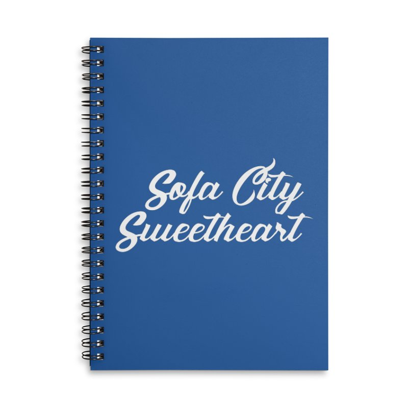 "Sofa City ""Summer Camp"" (White Font) Accessories Lined Spiral Notebook by Sofa City Sweetheart Discount Superstore"