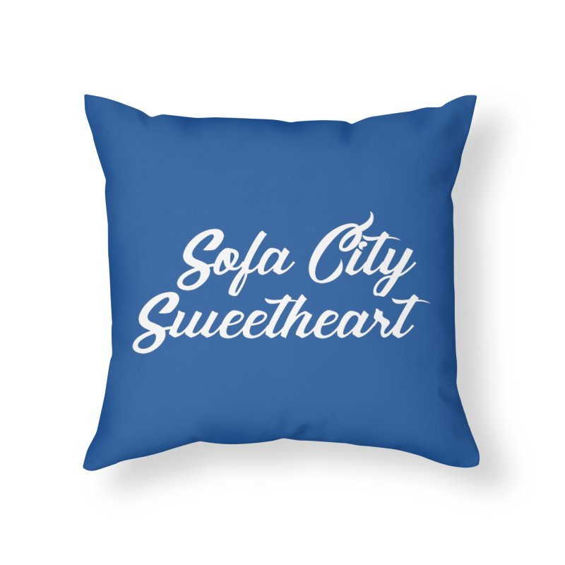 "Sofa City ""Summer Camp"" (White Font) Home Throw Pillow by Sofa City Sweetheart Discount Superstore"