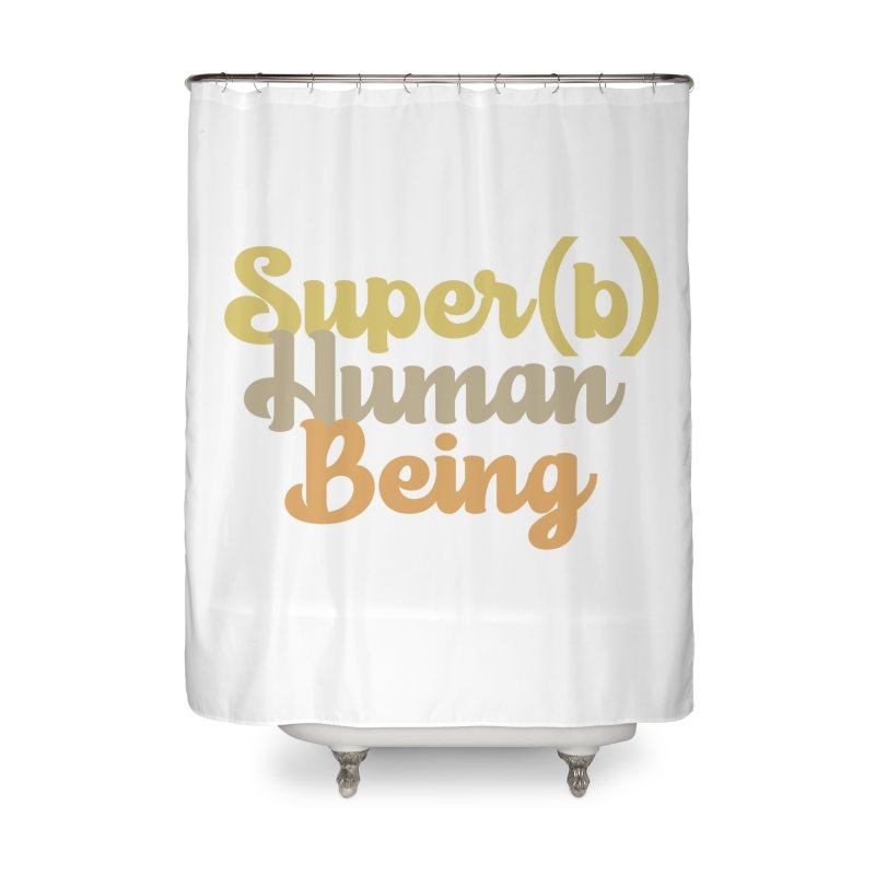 Super(b) Human Being! Home Shower Curtain by Sofa City Sweetheart Discount Superstore