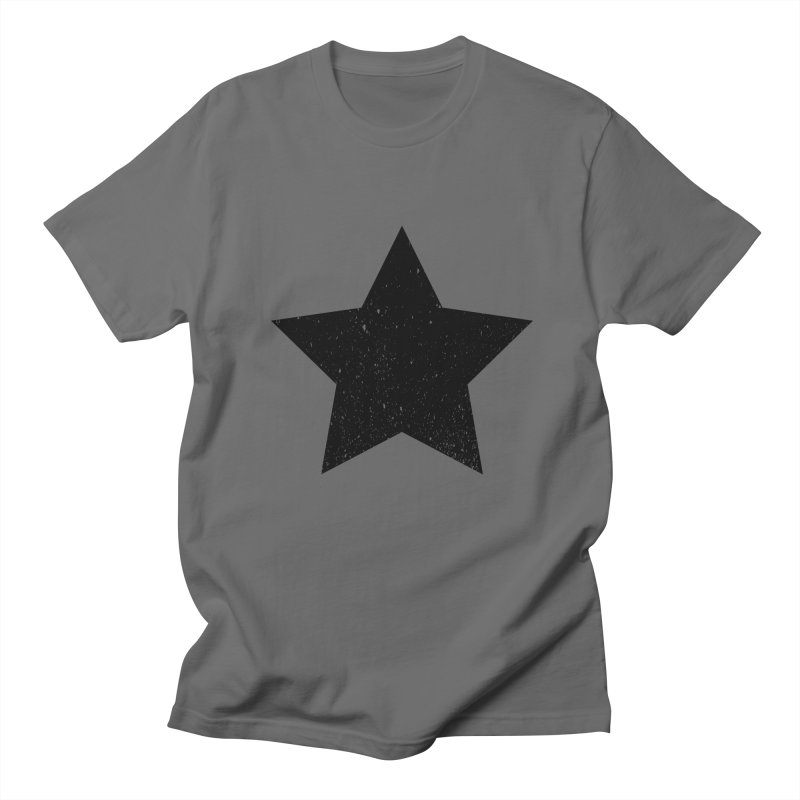 Black star Men's T-Shirt by Sofimartina's Artist Shop