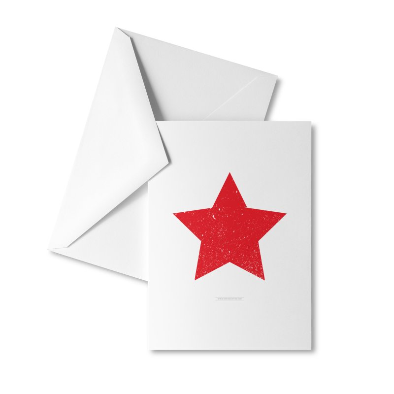 Red Star Accessories Greeting Card by Sofimartina's Artist Shop