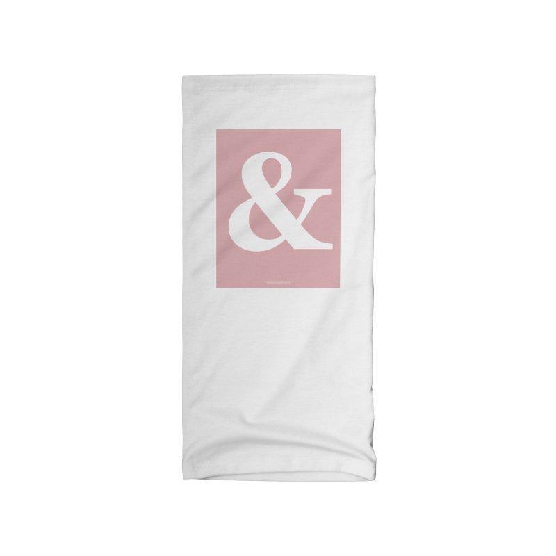Ampersand pink Accessories Neck Gaiter by Sofimartina's Artist Shop