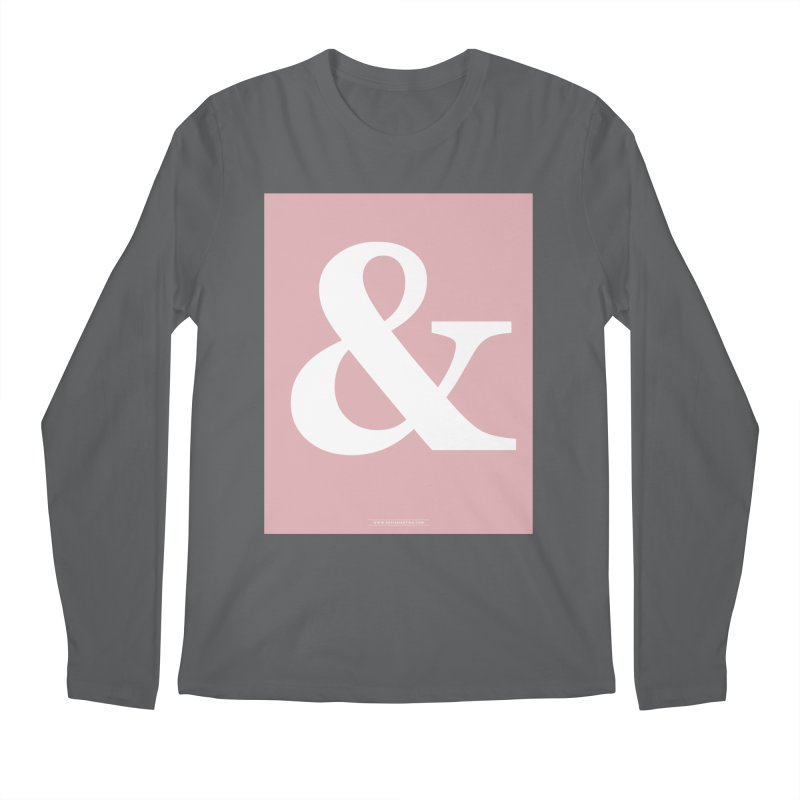 Ampersand pink Men's Longsleeve T-Shirt by Sofimartina's Artist Shop