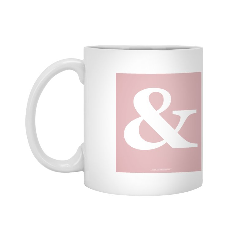 Ampersand pink Accessories Mug by Sofimartina's Artist Shop