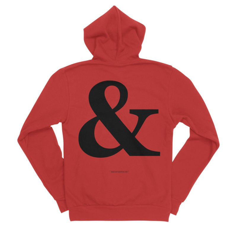 Type & Black Men's Zip-Up Hoody by Sofimartina's Artist Shop