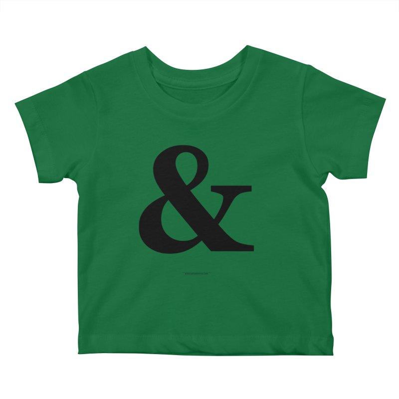 Type & Black Kids Baby T-Shirt by Sofimartina's Artist Shop