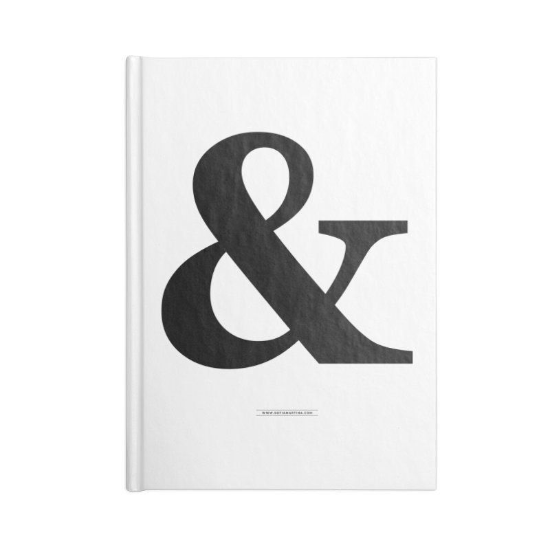 Type & Black Accessories Notebook by Sofimartina's Artist Shop