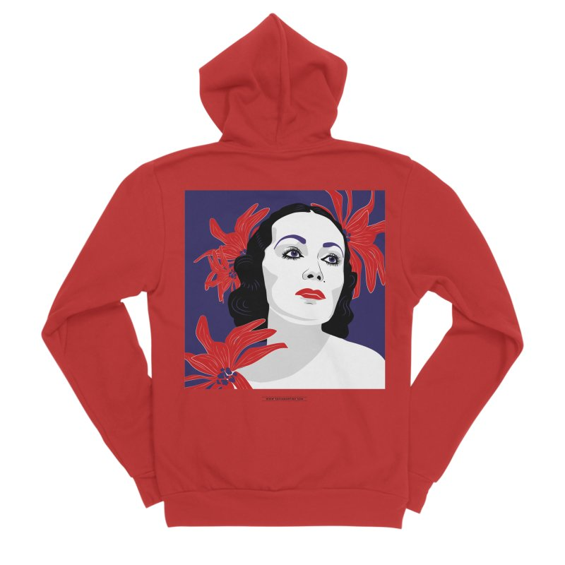Old Hollywood glamor Men's Zip-Up Hoody by Sofimartina's Artist Shop