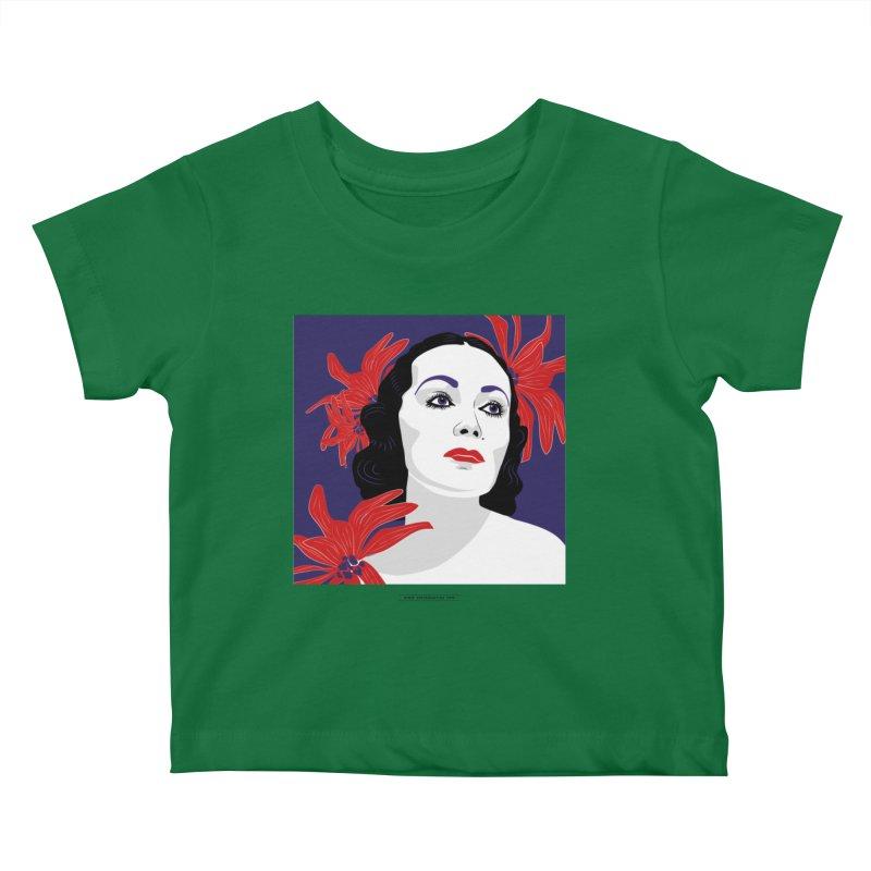 Old Hollywood glamor Kids Baby T-Shirt by Sofimartina's Artist Shop